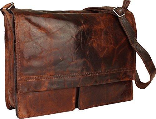 Harold's Saddle borsa a tracolla pelle 38 cm compartimenti portatile nero brown_brown, braun