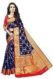 SareePopular Women's Kanjivaram Cotton silk Sarees with Blouse Pics (Green)