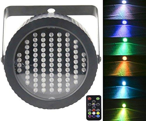 Luci da palco Par 86 LED, Latta Alvor DMX512 RGB Luci dj da festa stroboscopiche per discoteca Bar Show Pub KTV Luci da DJ con suono attivato e telecomando