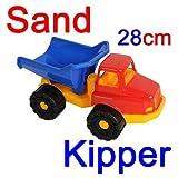Sandkipper aus Kunststoff mit beweglicher Achse 28 cm, Sand Spielzeug LKW Kipper (LHS)