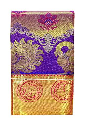 SARAVANABAVA SILKS Art Silk Saree With Blouse Piece(Srbs000397_Purple Blue_Free Size)