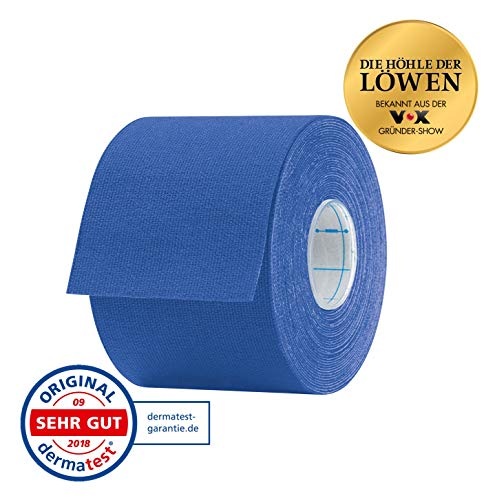 Aktimed Tape classic - Sport Kinesiologie Tape, Physio-Tape, Muskeln, Kinesiology, elastische Bandage, Designed in Deutschland [Dunkelblau]