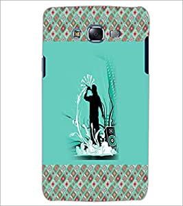 PrintDhaba Music D-5776 Back Case Cover for SAMSUNG GALAXY ON 7 (Multi-Coloured)