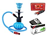 #4: JaipurCrafts Premium Combo Of 12 Inch Glass, Iron Hookah, 10 Hookah Disk And Premium Hookah Flavour