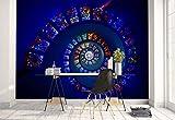 Vlies Fototapete Fotomural - Wandbild - Tapete - Spiral Glasmalerei Mosaik Decke - Thema Architektur - L - 254cm x 184cm (BxH) - 2 Teilig - Gedrückt auf 130gsm Vlies - 1X-1292615V4