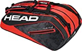 HEAD Tour Team 12R Monsterercombi Tennisschläger Tasche, unisex, Tour Team 12R Monsterercombi, schwarz/rot