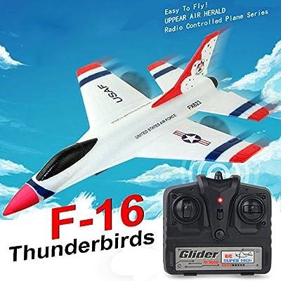 TUDUZ Airplane Toy Gifts, Model Toy, Quadcopter Toys, Mini Remote Control Airplane Aeroplane RTF RC Aircraft Drone, FX-823 2.4G 2CH RC Airplane Glider Remote Control Plane Outdoor Aircraft