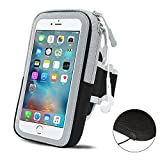 iPhone 7 6s 6 Sports Armband (4.7 Inches), Sweatproof&Waterproof Neoprene Running Armband Arm Pouch Phone Holder/Case/Cover for Running, Jogging, Hiking, Walking, Workout, Gym and Exercise, with Earphone Hole and Safe Double Pocket for Keys/ Cards/Earphones, Size Adjustable with Extension Strap ( Black)