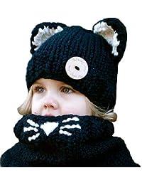 ECYC Invierno De Punto De Dibujos Animados Panda Sombreros Bufanda Capucha  Bufanda Gorras para NiñOs NiñAs b257900fdbf