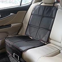 Asiento de coche alfombrilla de pantalla zuoao Auto asiento Protector Mat antideslizante protección de piel con bolsillos para niño asientos de coches de bebé