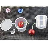 Junlinto 100 Stücke 25 ml Kunststoff Einweg Sauce Tassen Mit Deckel Frischhaltedosen Boxen Transparent