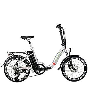 AsVIVA E-Bike B13 silber 20 Zoll Pedelec Klapprad Elektrofahrrad 36 V Samsung Akku