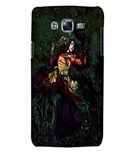 ColourCraft Lovely Lady Design Back Case Cover for SAMSUNG GALAXY J5
