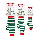 Morbuy Schlafanzüge für die Ganze Familie, Nachtwäsche Schlafanzug Pyjama Zuhause Kleidung Top + Hosen für Herren Damen Kinder Junge Mädchen Baby (M (Mutter), Weißes Top + Grüne Hose)