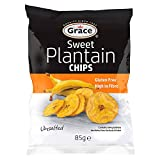 Grace Sweet Plantain Chips 85g (Pack of 9)