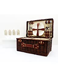 Paignton 4 persona cesta de picnic de mimbre