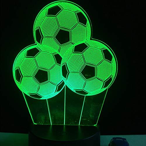 allon-Nachtlicht Sporting 3D führte USB-Lampen-Noten-Fernprüfer-buntes Steigungs-Sichtjungen-Geschenk ()