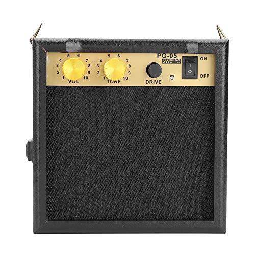 Tonysa Gitarrenverstärker mit Schultergurt, 5 W DC 9 V angetriebener E-Gitarren-Verstärker mit Einstellbarer Lautstärke für das Üben der Gitarre