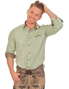 Trachtenhemd mit langem Arm - EMIRAT - grün