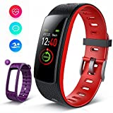 iWOWNfit Fitness Tracker Color Screen, i6HRC Fitness Watch : Activity Tracker Smart Band with heart rate monitor, Sleep Monitor, Smart Bracelet Pedometer Bluetooth Wristband with Replacement Band