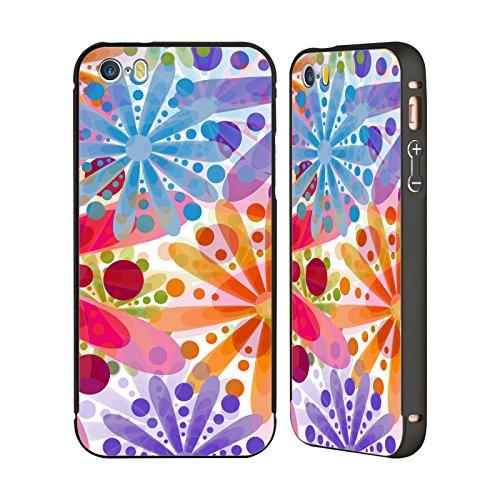 Ufficiale Shelly Bremmer Giardino Estivo Fiori Nero Cover Contorno con Bumper in Alluminio per Apple iPhone 6 Plus / 6s Plus Fuochi DArtificio