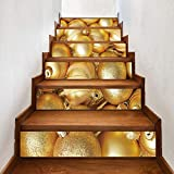 Imperméable Stickers Noël Escalier automuraux pour - Christmas new Christmas golden bell creative stairs stickers