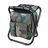 Folding Hocker Stuhl Rucksack mit Kühler isolierte Picknick Tasche für Outdoor Camping Angeln...