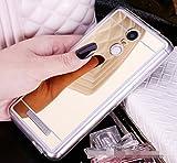 Funda Espejo Silicona Gel Tpu para Xiaomi Redmi Note 3 / Redmi Note 3 Pro Color Oro