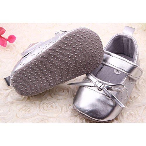 Highdas Baby-Mary Jane Schuhe - Anti-Rutsch / Soft Bottom Sliver