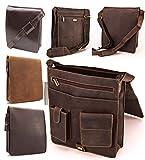 Visconti Hunter - Umhängetasche - Für Tablet iPad - geöltes Antik-Leder - JASPER # 18410