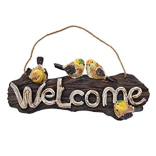 Exquisita decoración del jardín al aire libre: Es un gran regalo para familiares y amigos, El cartel de bienvenida perfecta, creando un aspecto único rústico y elegante, este es su etiqueta de casa perfecta.Material: resinaTamaño: como se muestraColo...