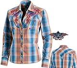 Bluse Whitney Kariert Western Bluse Langarm von Stars & Stripes , Größe:XL