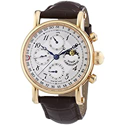 Chronoswiss 7541rl braun Herren Sirius Untergang Mechanische Uhr mit Silber Zifferblatt Chronograph-Anzeige und braun Gurt