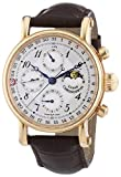 Chronoswiss 7541RL Brown Men's Sirius Moonphase Mechanical Watch with Silver Dial Chronograph Display and Brown Strap
