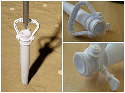 Schirmständer Ø22-35mm weiss Sonnenschirmhalter Bodenhülse Sonnenschirm