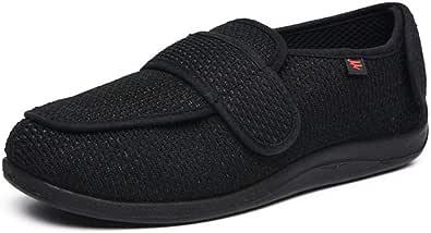 Pantofole Uomo con A Strappo,Hallux Valgus Fuß schwellende Schuhe, Plus Größe breite fette Schuhe mittleren Alters und ältere Menschen,Uomo Scarpa Ortopedica
