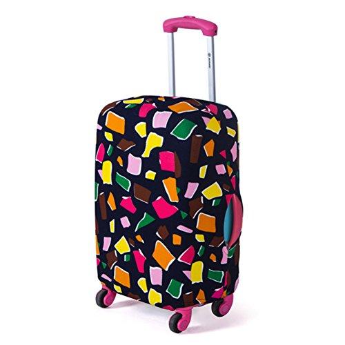 ANYIKE Reisetrolley Koffer-Abdeckung, modisch, elastisch, staubdicht, passend für 45,7 bis 66 cm, polygonal1, S - Koffer Dehnbare Abdeckung