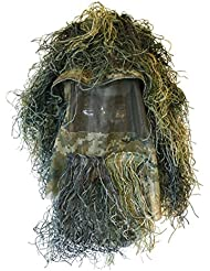 AIRSOFT COMBAT GHILLIE WOODLAND CAMO HEAD HAT 3D STYLE