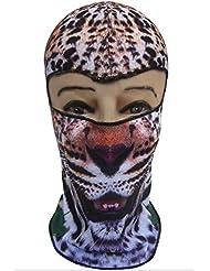 Máscara de rostro de ciclismo de la máscara a prueba de viento 3D animal parabrisas al aire libre medio abierto máscara de balaclavas para esquí de ciclismo de senderismo camping motociclismo casco(A)