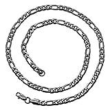 tumundo Figarokette Figaro Panzerkette Königskette Silbern Ø 8mm Edelstahl-Kette Halskette Armband Herren Damen, Länge schmuck:70 cm