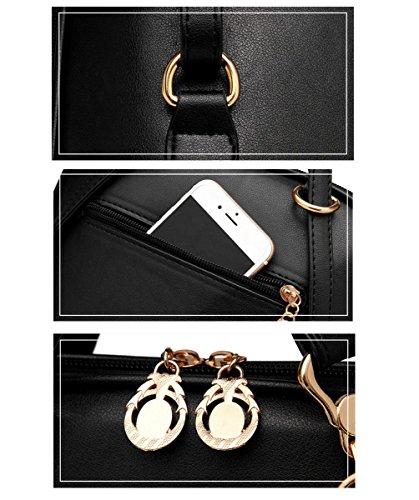XibeiTrade ,  Mädchen Damen Rucksackhandtaschen Schwarz
