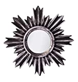 #6: Pindia Plastic Designer framed Wall Mounted Decorative Round Mirror