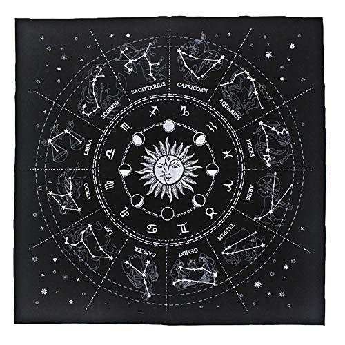GSNML Tischdecke Tarot Card, Tischdecke Divination Constellation Card, Tischdecke 50 X 50 cm Universal Waite Tarot Divination