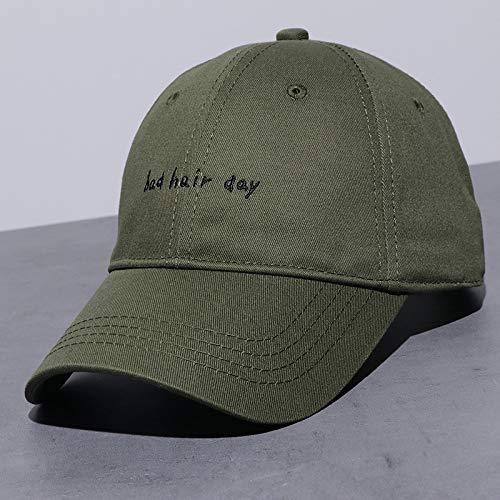 mlpnko Monochrome vielseitige Hut Baseballmütze komfortable Mode Sonnenblende Armee grün einstellbar