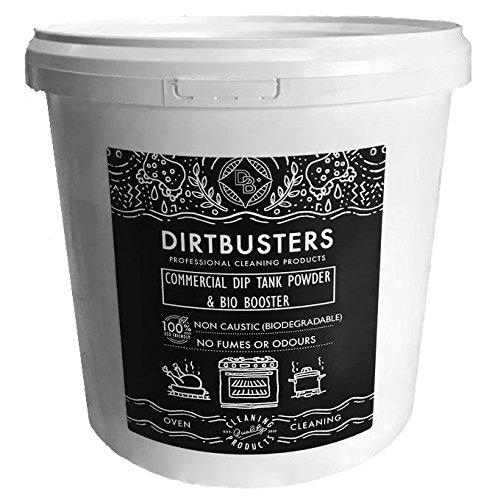 dirtbusters nicht Ätzende Commercial Dip Tank und Entfettung Puder decarboniser 5 Kilo Professionelle Stärke Produkt zu entfernen Fett und Fett von Öfen Filter sauglüftern, Küchenutensilien, Töpfe (Motor-öl-regal)