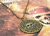 Halskette Fluch der Karibik Elisabeth Swan Pirat Medallion Amulett Replica