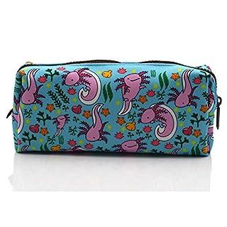 Axolotl Students Canvas Pencil Case Pen Bag Pouch stationery Case Makeup Cosmetic Bag