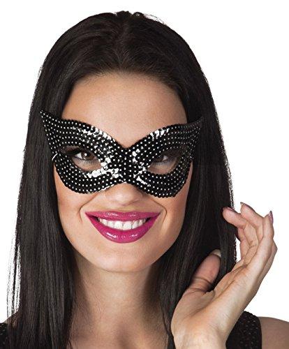 Halloweenia - Kostümzubehör Augenmaske Black Diva , Schwarz