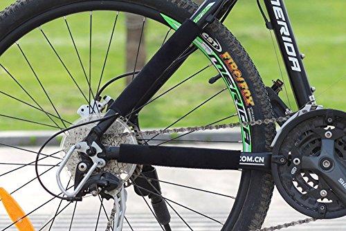 intellatrust (TM) 2Cadre Protection d'écran de cyclisme pour chaîne de vélo Noir Chaîne Stay Livré Protection d'écran pour VTT Chaîne de vélo Housse de protection