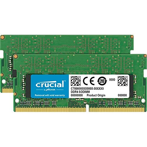 Crucial CT2K16G48FD8266 32GB (16GB x2) Speicher Kit (DDR4, 2666 MT/s, PC4-21300, Dual Rank x8, SODIMM, 260-Pin)